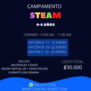 Campamento Steam Virtual Internacional 4 a 6 años