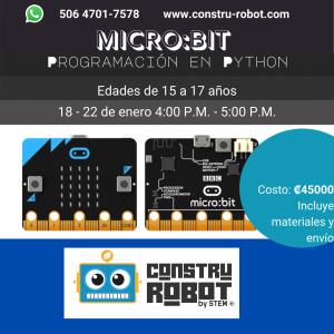 Campamento Internacional – Virtual: Intro a la Programación en Python con Microbit