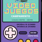 Campamento Internacional – Virtual: Creación de Videojuegos Arcade.  Edades de 7 a 10 años Enero