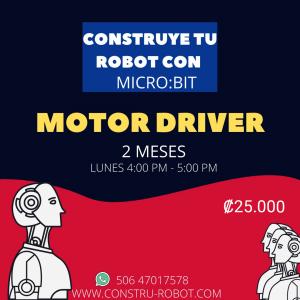 Construye tu robot Microbit y Kitronik Motor Driver (7-10 años) 2 meses  – Pago total – Febrero