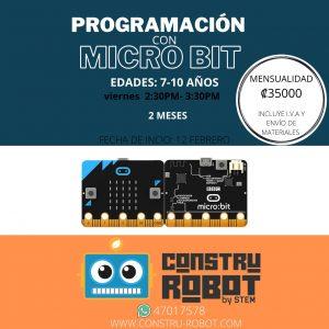 Curso de Programación con Microbit (7-10 años) 2 meses pago por mes – febrero