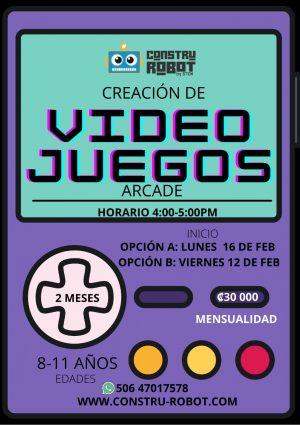 Video Juegos Arcade  (8-11 años) 2 meses Pago total – Febrero