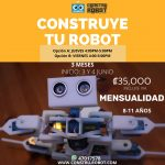 Construye tu robot. Pago por mes Inicio 3 – 4 de junio